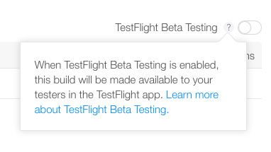 Enable TestFlight