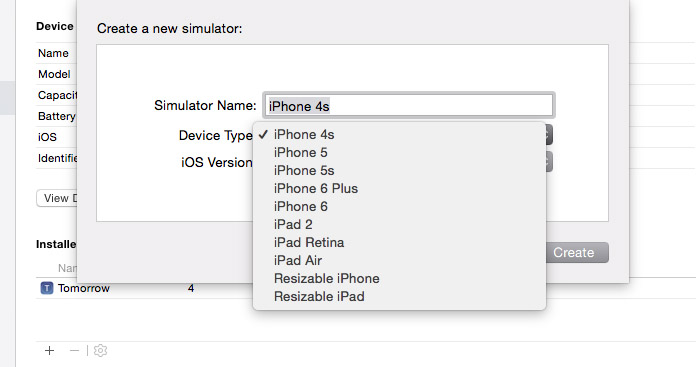 Xcode Device Simulators